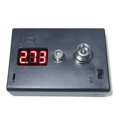 Battery powered ohm and voltage tester
